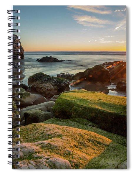 Rocky Pismo Sunset Spiral Notebook