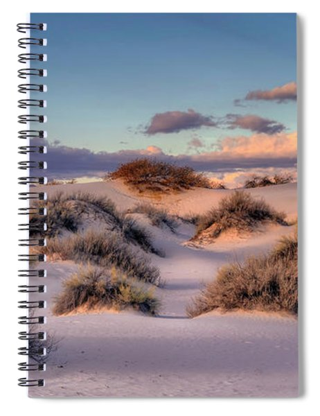 Rolling White Sands  Spiral Notebook