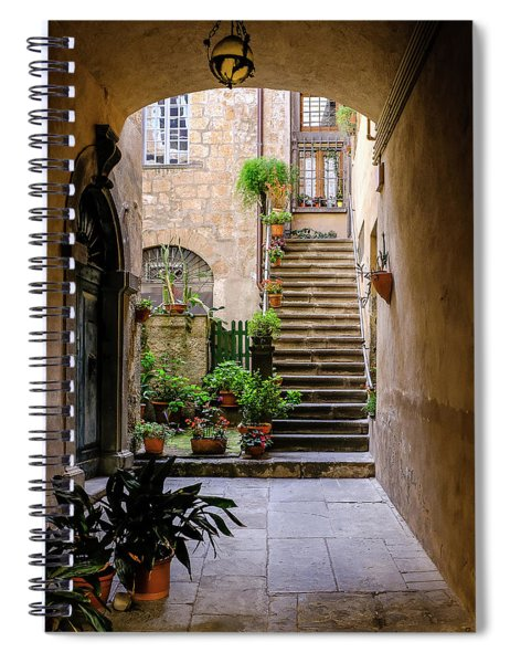 Spiral Notebook featuring the photograph The Cobblestone Streets Of Sorrento Italy by Robert Bellomy