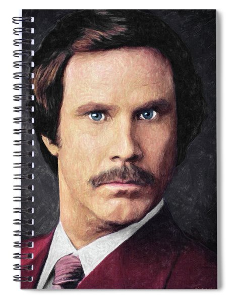 Ron Burgundy Spiral Notebook
