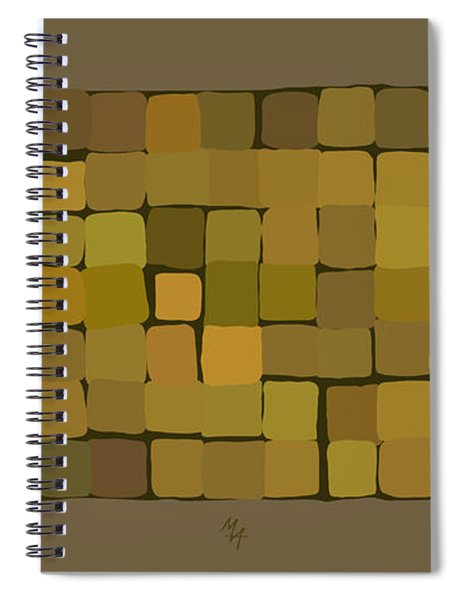 Roofs In Gold Spiral Notebook