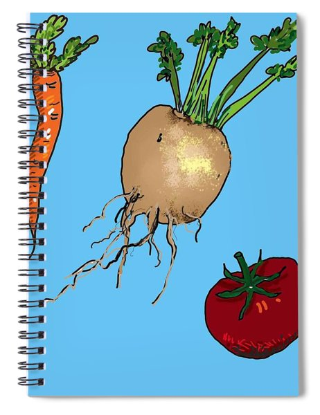 Root Vegetables Spiral Notebook