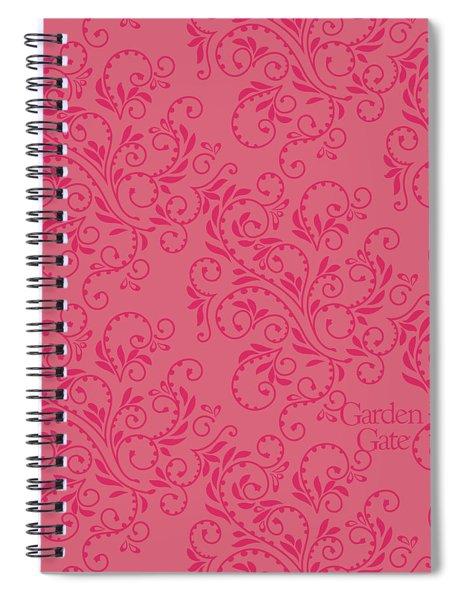 Rose Colored Fern Pattern Spiral Notebook