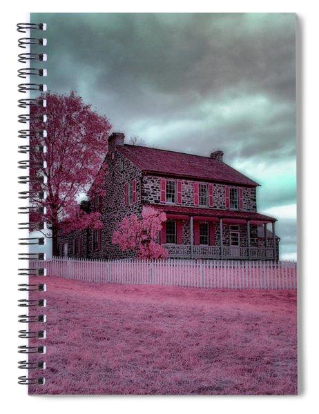 Rose Farm In Infrared Spiral Notebook