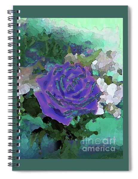 Rose Of Purple And Green Spiral Notebook