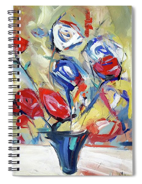 Roses And Bluez Spiral Notebook