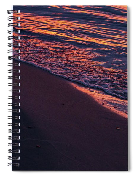 Spiral Notebook featuring the photograph Rosy Tide by Heather Kenward