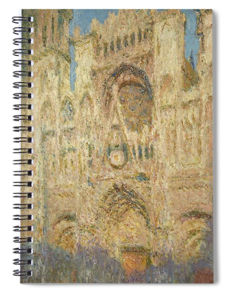 Rouen Cathedral In The Evening, 1894 Spiral Notebook