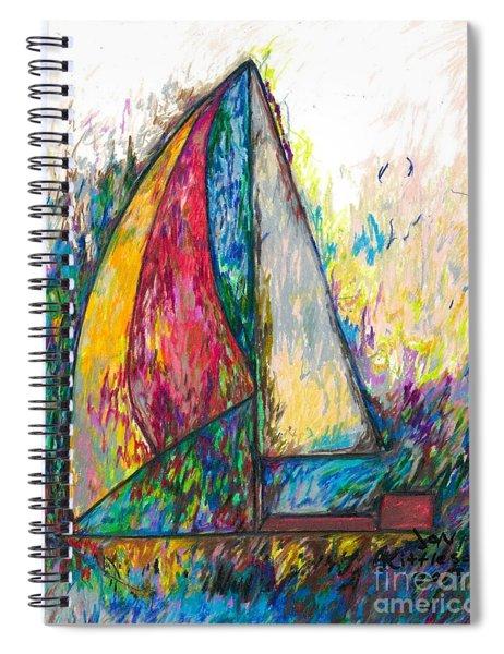 Rough Sailing Spiral Notebook