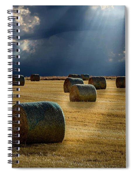 Round Bales Spiral Notebook