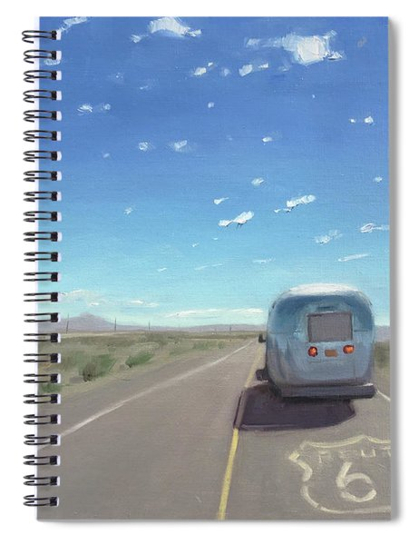 Route 66, Somewhere In California Spiral Notebook