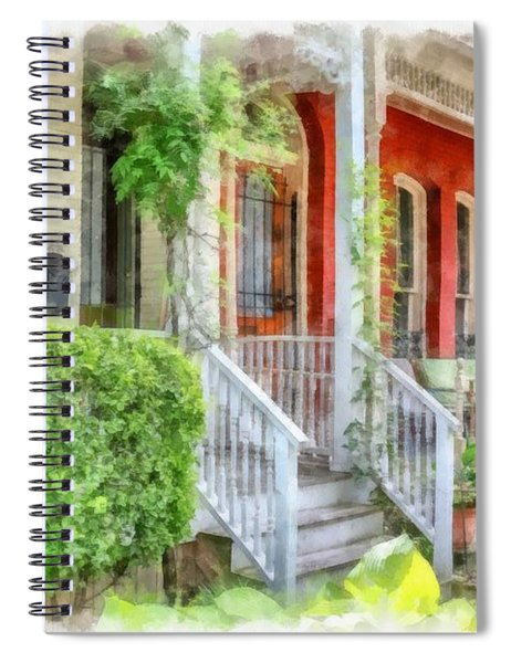Row Houses Washington Dc Spiral Notebook