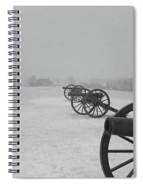 Row Of Cannon Spiral Notebook