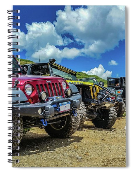 Row Of Jeeps Spiral Notebook