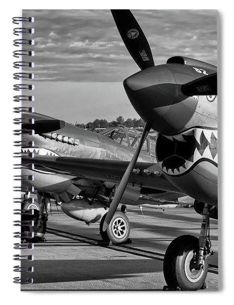 Row Of Tigers Spiral Notebook