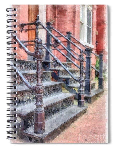 Rowhouse Stairs Washington Dc Neighborhood Spiral Notebook