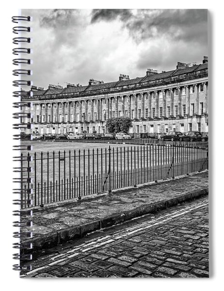 Royal Crescent In Bath Uk Spiral Notebook