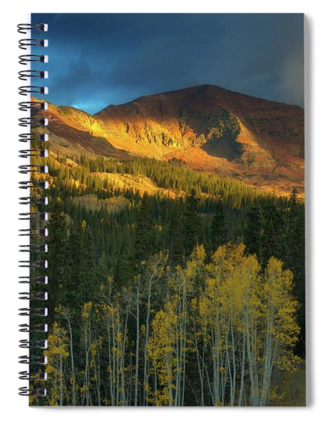 Spiral Notebook featuring the photograph Ruby Range Sunrise by John De Bord