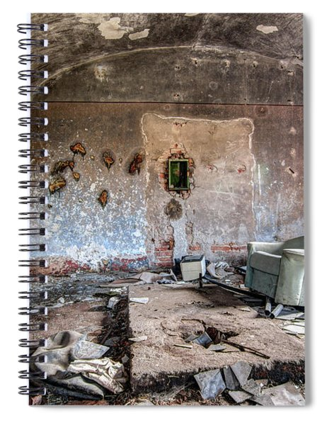 Ruins Of Old Farm Buildings Spiral Notebook