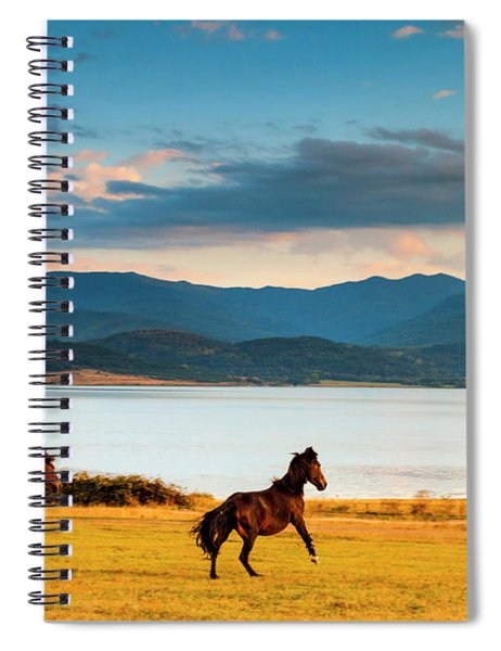 Running Horses Spiral Notebook