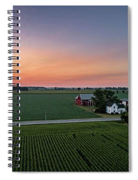 Rural Pastel Sunrise Spiral Notebook