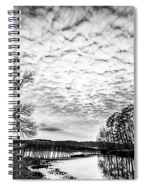 Rushing Clouds Spiral Notebook