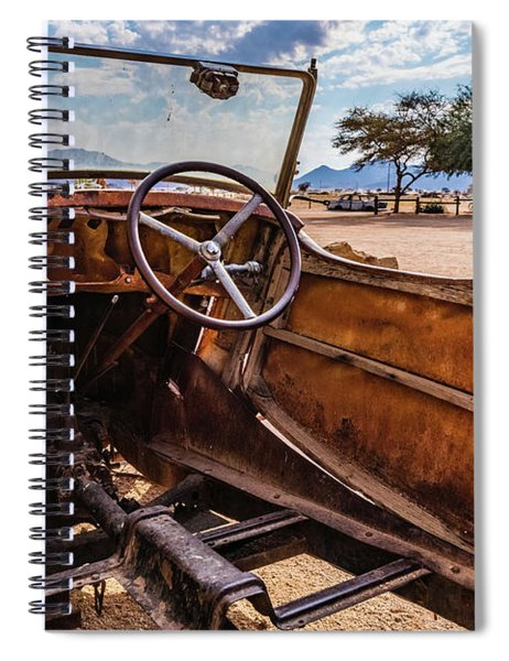 Rusty Car Leftovers Spiral Notebook