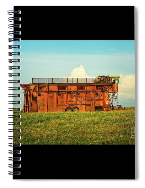 Rusty Cotton Baler  Spiral Notebook