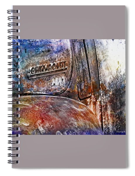 Rusty Rainbow Spiral Notebook