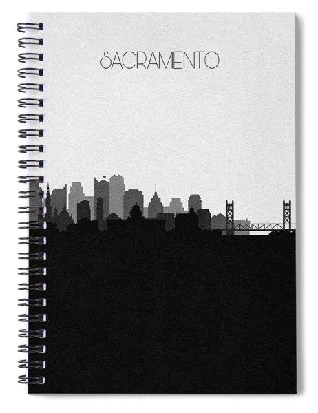 Sacramento Cityscape Art V2 Spiral Notebook