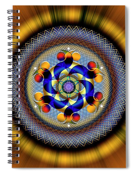 Sacred Geometry 740 Number 1 Spiral Notebook