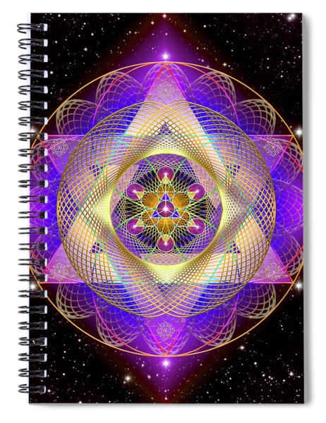 Sacred Geometry 741 Spiral Notebook
