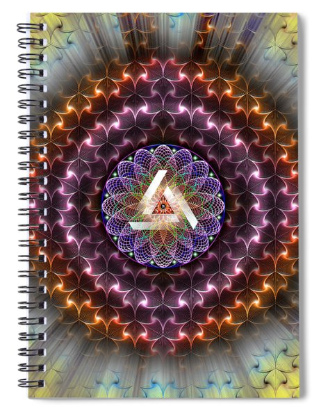 Sacred Geometry 742 Spiral Notebook