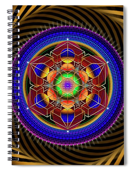 Sacred Geometry 763 Spiral Notebook
