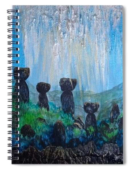 Sacred Latte Stone Site Spiral Notebook