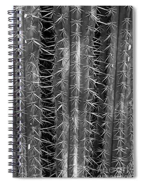 Saguaro Cactus Bw 2 Spiral Notebook