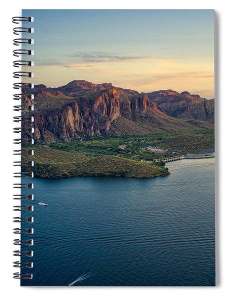 Saguaro Lake Mountain Sunset Spiral Notebook