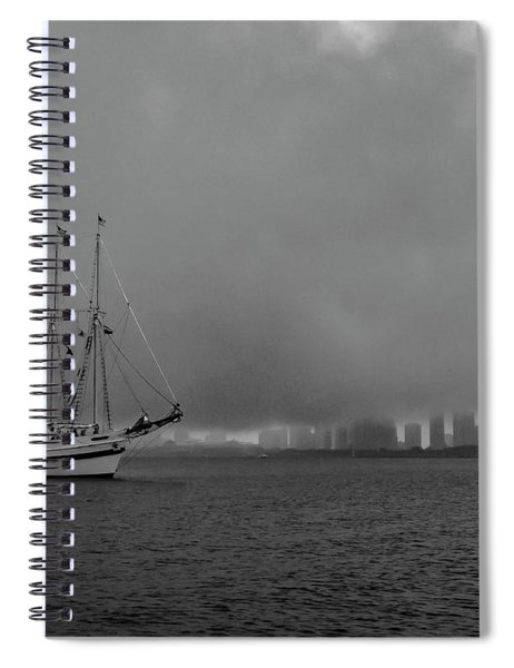 Sail In The Fog Spiral Notebook