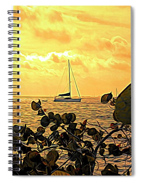 Sail The Manatee River Spiral Notebook
