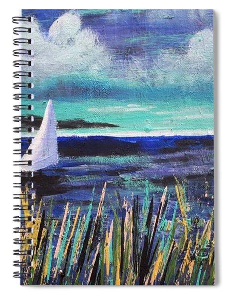 Sailboat Drifting Spiral Notebook