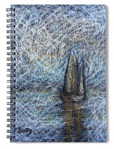 Sailboat In The Mist Spiral Notebook