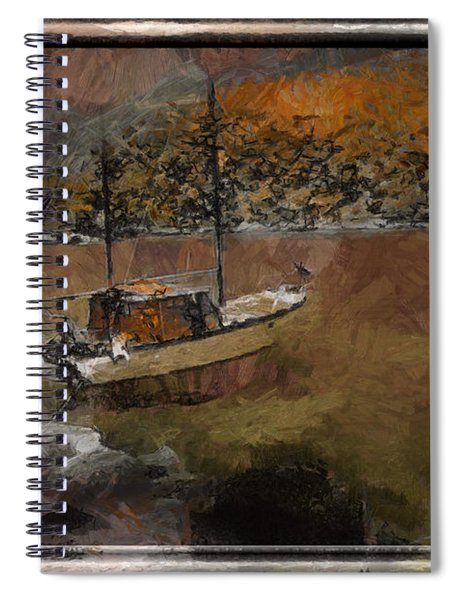 Spiral Notebook featuring the digital art Sailboat Of Dreams by Mario Carini