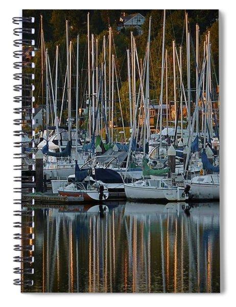 Sailboat Reflections Spiral Notebook