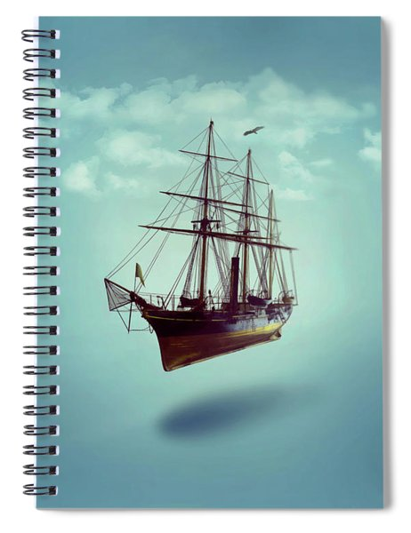 Spiral Notebook featuring the digital art Sailed Away by ISAW Company
