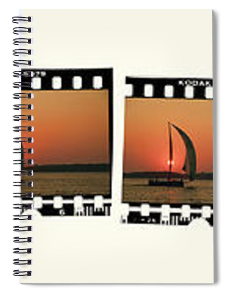 Sailing At Sunset On The Great Peconic Bay Spiral Notebook
