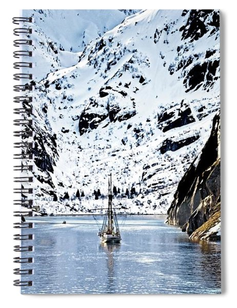 Sailing Into Trollfjord Norway Spiral Notebook