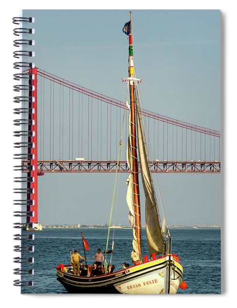 Sailing On The Tagus Spiral Notebook