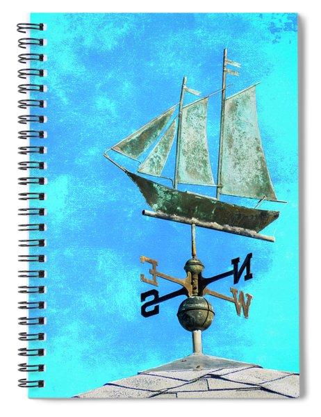 Sailing Ship Weathervane Spiral Notebook
