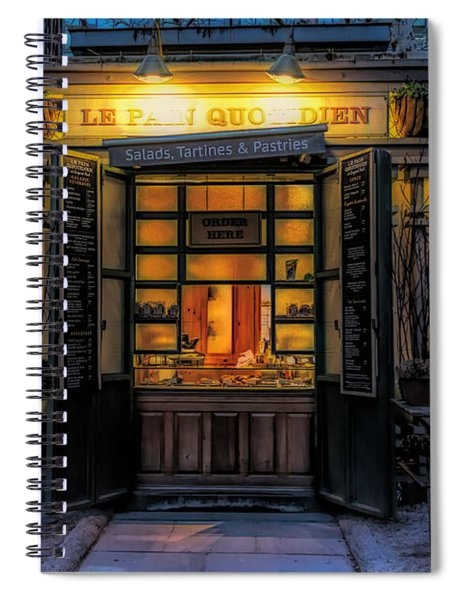 Spiral Notebook featuring the photograph Salads Tartines And Pastries by Alison Frank