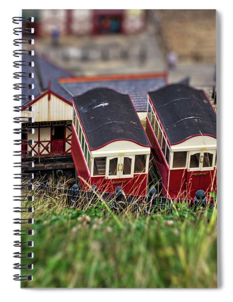 Spiral Notebook featuring the photograph Saltburn Tramway by Scott Lyons